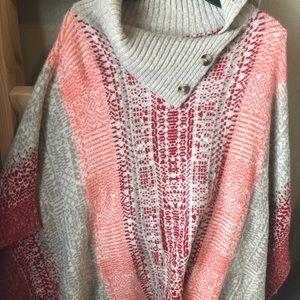 Women's poncho sweater - size XS/S